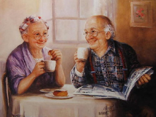 пожилые счастливые люди